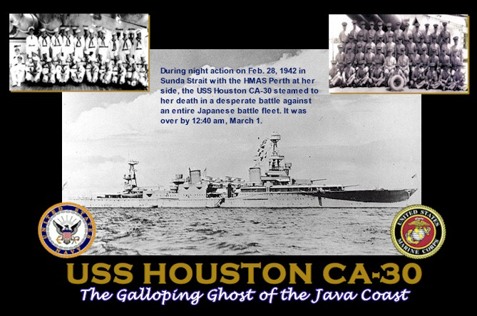 USS HOUSTON CA-30 The Galloping Ghost of the Java Coast